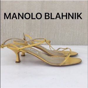 👑MANOLO BLAHNIK SANDAL HEELS 💯AUTHENTIC